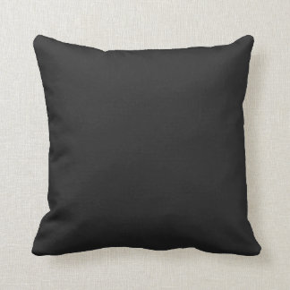 Black Solid Accent Throw Pillow