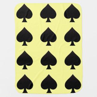 Black Spade - Cards Suit, Poker, Spear Baby Blankets