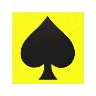 Black Spade - Cards Suit Poker Spear Canvas Print