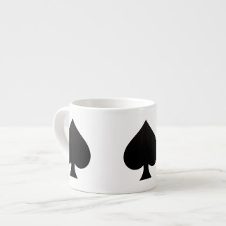 Black Spade - Cards Suit Poker Spear Espresso Mugs