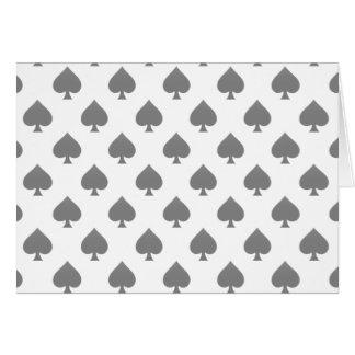 Black Spade Pattern Greeting Card