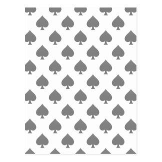 Black Spade Pattern Post Cards