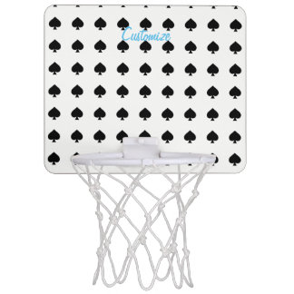 black spade pattern Thunder_Cove Mini Basketball Hoop