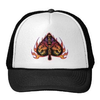 Black Spade Skull Hats