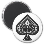 Black Spades: Playing Cards Suit: Fridge Magnet