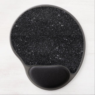 Black Sparkles Gel Mouse Pad