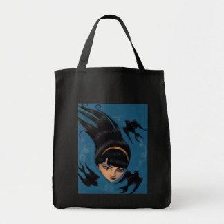 Black Sparrow Tote Bag