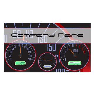 Black Speedometer Business cards