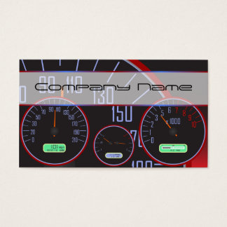 Black Speedometer Business cards
