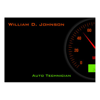 Black Speedometer Mechanic or Auto Technician Business Cards