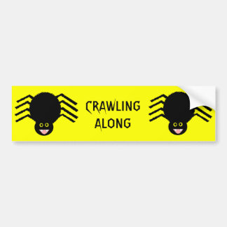 Black Spider CRAWLING ALONG Bumper Sticker