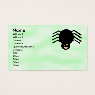 Black Spider Customizable Business Card