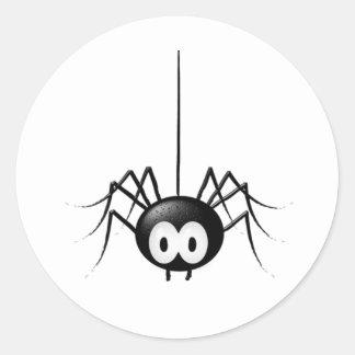 Black Spider Cute Halloween Gift Classic Round Sticker