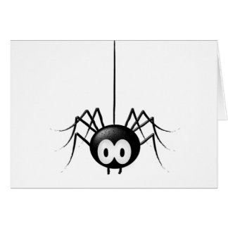 Black Spider Cute Halloween Gift Greeting Card