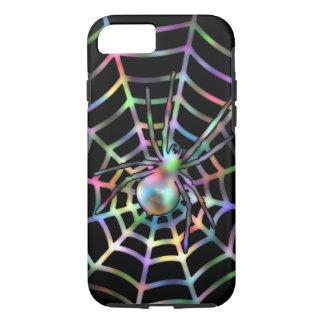 Black Spider in Web Halloween iPhone 8/7 Case