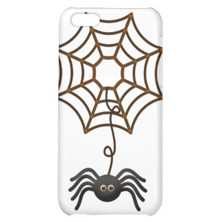 Black Spider on a Web iPhone 5C Covers