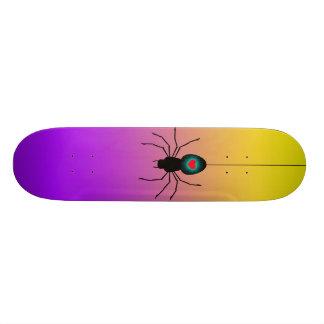 Black spider skate board. skate board