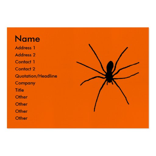Black Spider Template Business Cards
