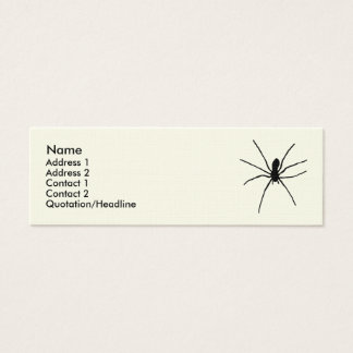 Black Spider Template Mini Business Card
