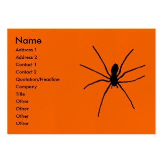 Black Spider Template Pack Of Chubby Business Cards