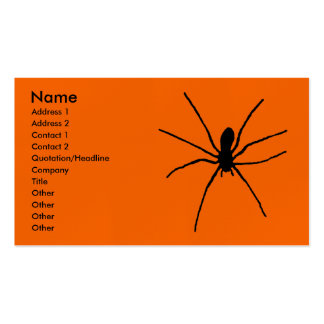 Black Spider Template Pack Of Standard Business Cards
