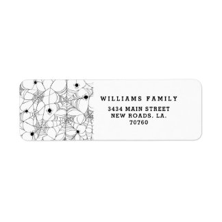 Black Spider Web Halloween Return Address Label