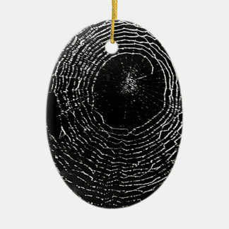 Black Spider Web Ornament