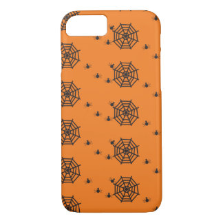 Black spiders and spider webs Halloween iPhone 7 Case