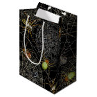 Black Spiders Net Gift Bag - Medium, Matte