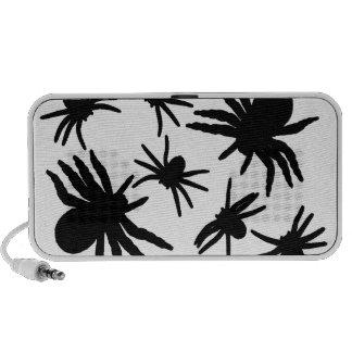 Black Spiders Pattern Speakers