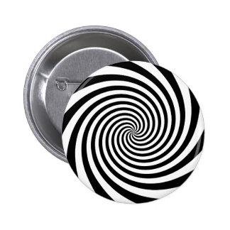 Black Spiral Pinback Buttons