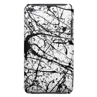 Black Splatter I-Pod Touch Case Barely There iPod Cases