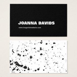 Black Splatter Paint Business Card