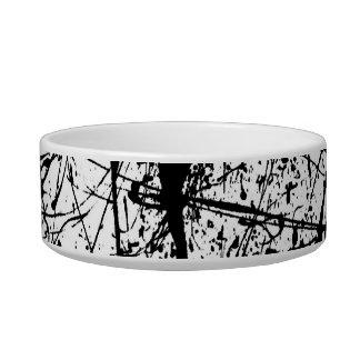Black Splatter pet bowl