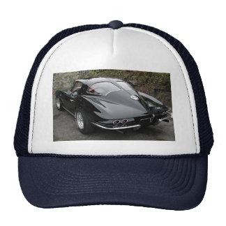 Black Split Window Classic Corvette Cap