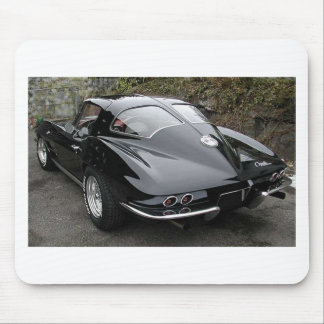 Black Split Window Classic Corvette Mouse Mat