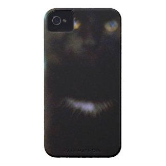 Black Spooky Cat iPhone 4 Case