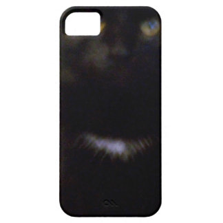 Black Spooky Cat iPhone 5 Cases