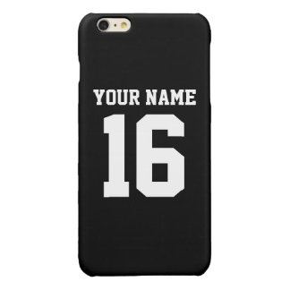 Black Sporty Team Jersey iPhone 6 Plus Case