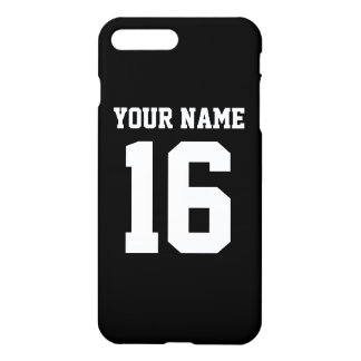 Black Sporty Team Jersey iPhone 7 Plus Case
