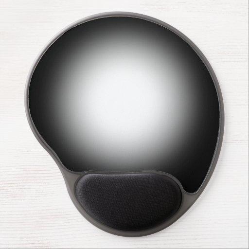Black spotlight mousepad. gel mouse pad