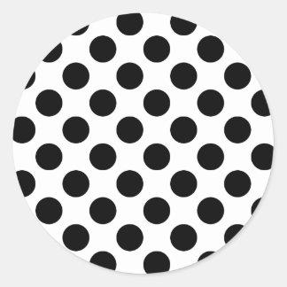 Black Spots Classic Round Sticker