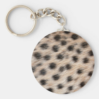 black spotted Cheetah fur or Skin Texture Template Basic Round Button Key Ring