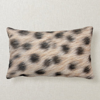 black spotted Cheetah fur or Skin Texture Template Pillows