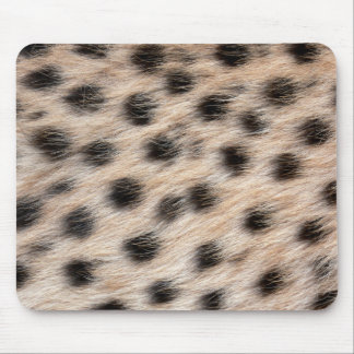 black spotted Cheetah fur or Skin Texture Template Mouse Pad