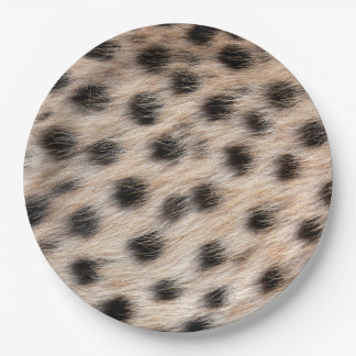 black spotted Cheetah fur or Skin Texture Template Paper Plate