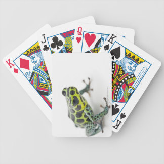 Black Spotted Green Poison Dart Frog Bicycle Playing Cards