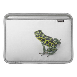 Black Spotted Green Poison Dart Frog MacBook Sleeve