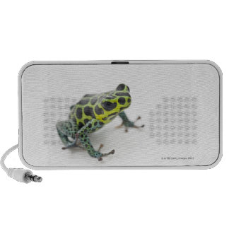 Black Spotted Green Poison Dart Frog Portable Speakers