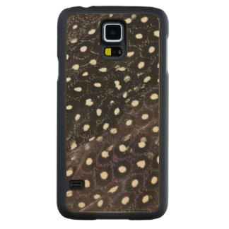 Black Spotted Guineafowl Feathers Carved Maple Galaxy S5 Case